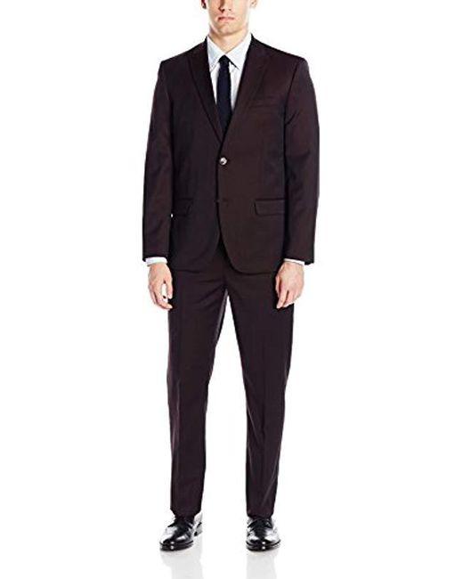 Ben Sherman Multicolor Two Button Slim Fit Suit for men