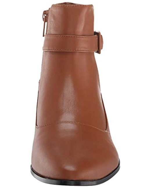 715204fc366ee Lyst - Calvin Klein S Farryn Leather Closed Toe Ankle Fashion Boots ...