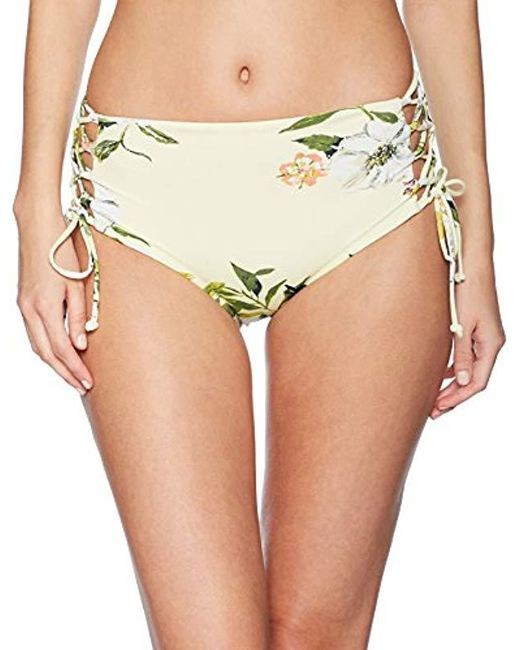 RACHEL Rachel Roy - Multicolor Swim Bottom Hight Waisted Side Laced Full Coverage Detail - Lyst