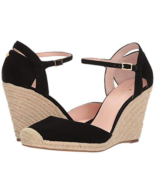 41d3f2e678 Kate Spade Giovanna Espadrille Wedge Sandal in Black - Save 32% - Lyst