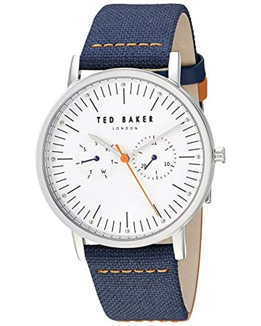 aaaec14c8 Ted Baker - Blue  brit  Quartz Stainless Steel And Leather Casual Watch for  Men ...