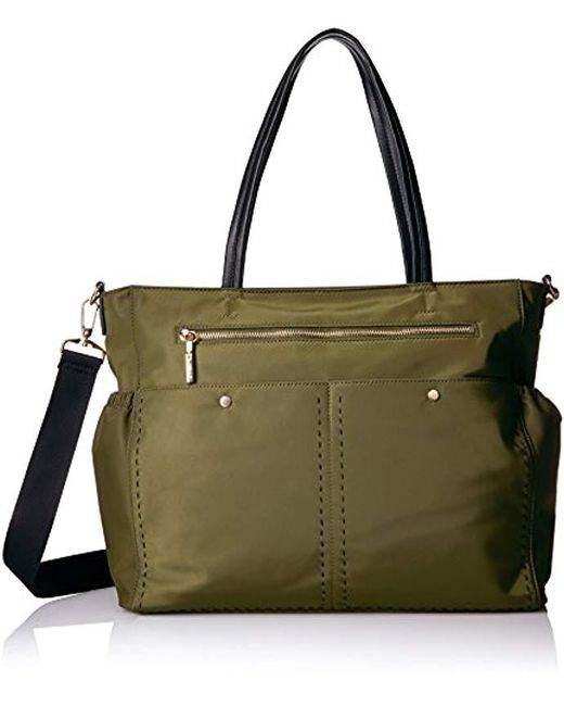 MILLY - Green Sold Stitch Diaper Bag - Lyst