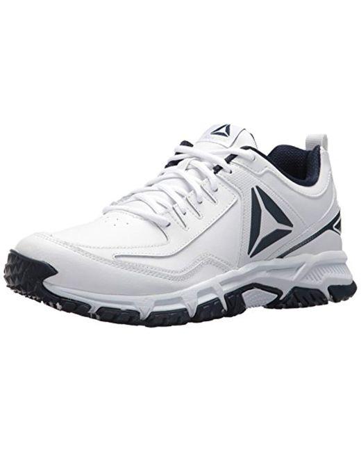 Lyst - Reebok Ridgerider Leather Sneaker in White for Men - Save ... f4d129ee3