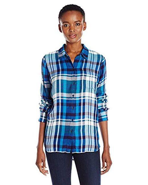 Lucky Brand - Blue Bungalow Plaid Shirt - Lyst