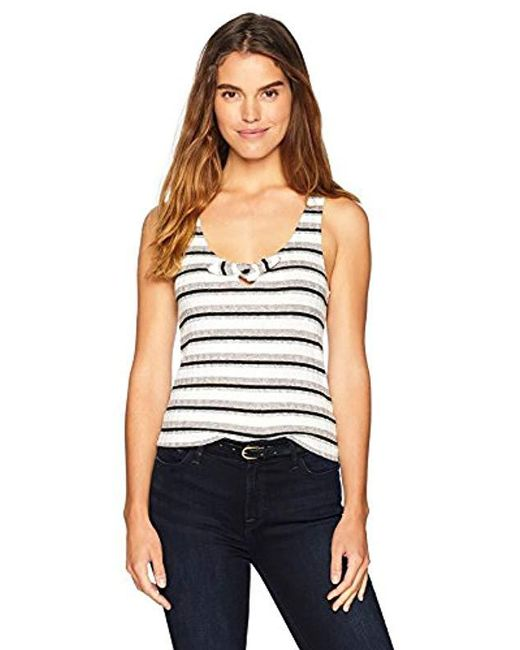 Cupcakes And Cashmere - White Kassia Knit Striped Top - Lyst