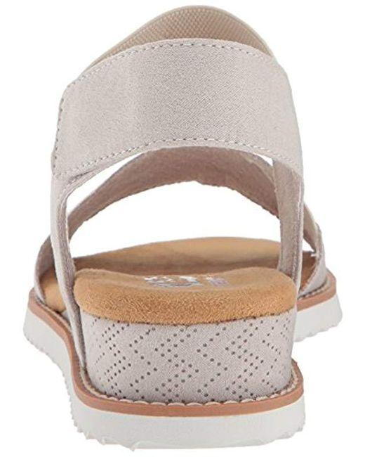 a06ab707c76d Lyst - Skechers Bobs Desert Kiss Sandal in White - Save 23%