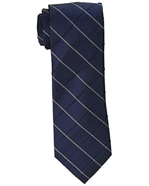 Calvin Klein - Blue Waffle Windowpane Tie for Men - Lyst