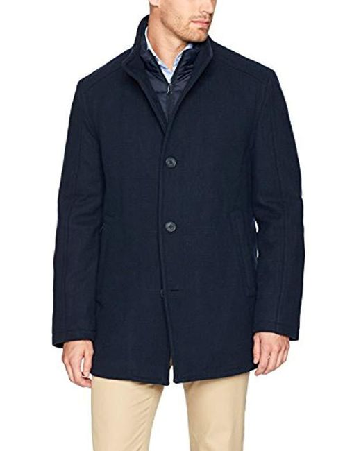 Marc New York - Blue Linden Superior Wool Car Coat With Removable Quilted Bib for Men - Lyst