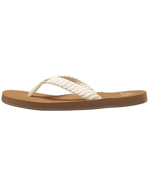 df6b4575cffac3 Lyst - Roxy Porto Sandal Flip-flop in Natural - Save 35%