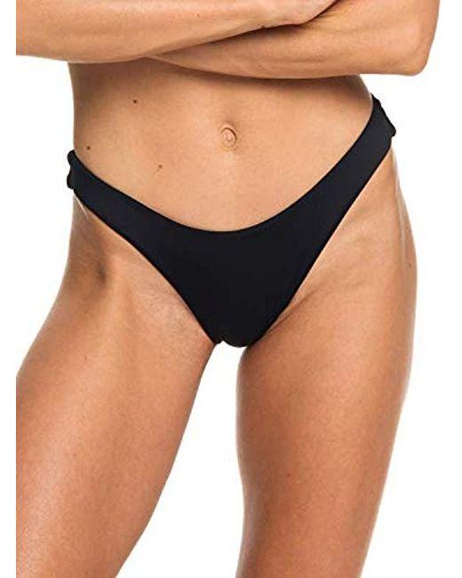 cf42f4730629e Roxy - Black Solid Beach Classics High Leg Swimsuit Bikini Bottom - Lyst ...