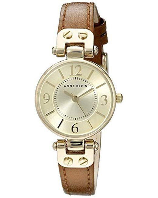 Anne Klein - Metallic 10/9442 Leather Strap Watch - Lyst