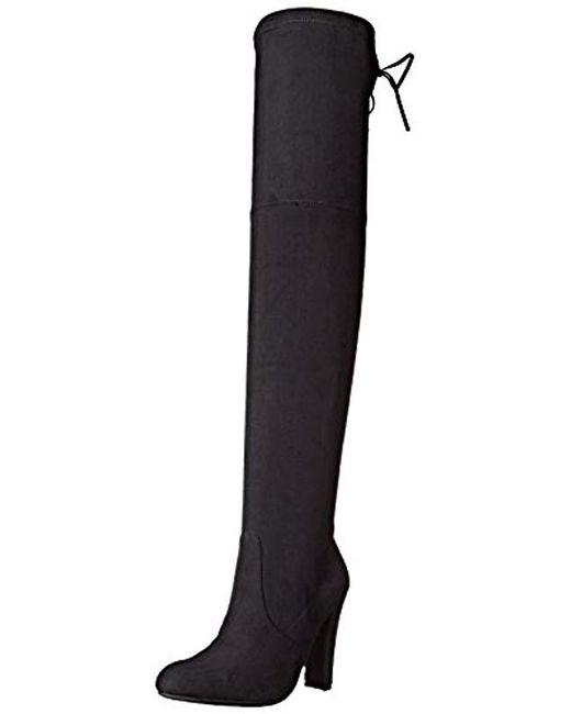 4084143e94c Lyst - Steve Madden Gorgeous Boot in Black - Save 64%