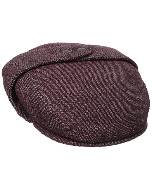 Kangol - Purple Tweed Bugatti Cap for Men - Lyst