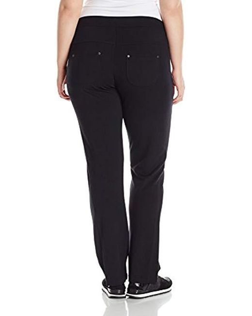 a2a06914c09 ... Calvin Klein - Black Performance Plus-size Bootleg Pant - Lyst