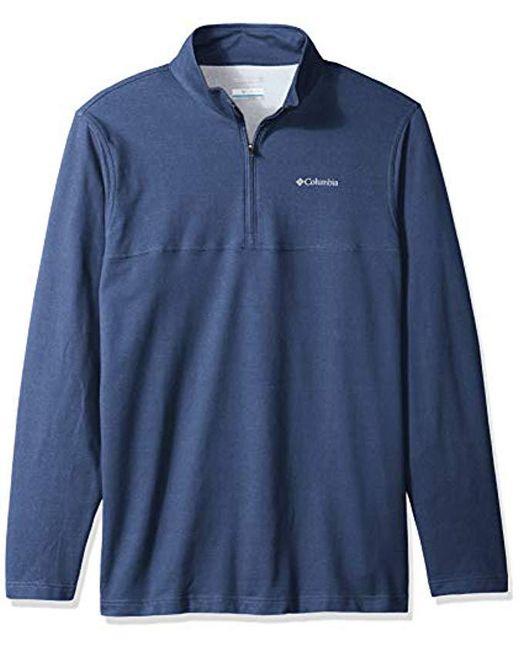 Columbia - Blue Rugged Ridge Big & Tall 1/4 Zip for Men - Lyst