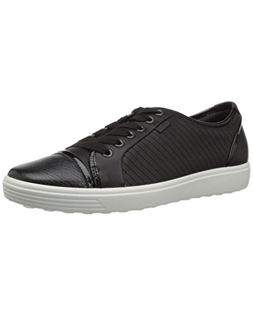 Ecco Black Soft 7 Ladies Sneaker
