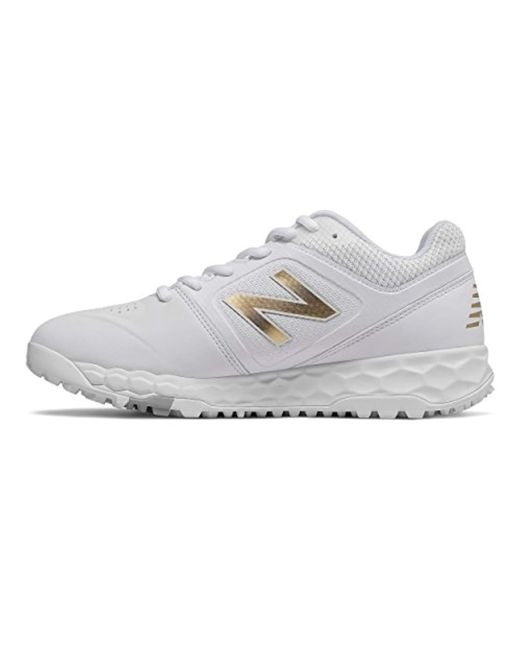 0ffaacddf New Balance Velo V1 Turf Softball Shoe in White - Save 15% - Lyst