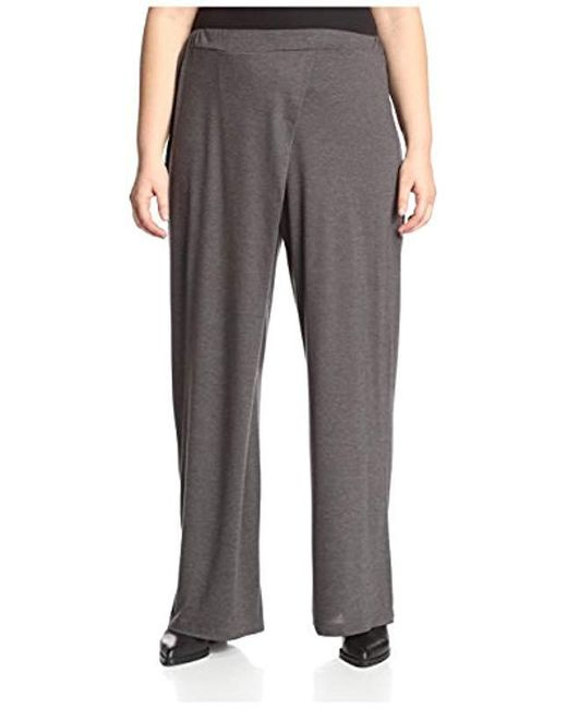 James & Erin - Gray Plus Wide Leg Pant - Lyst