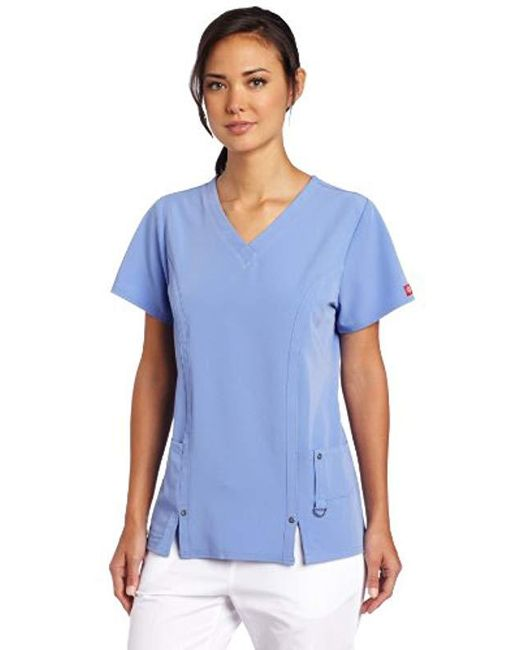 c0aa1e866dd Lyst - Dickies Scrubs Xtreme Stretch V-neck Shirt in Blue - Save 8%