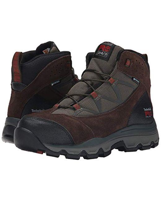 4174236878e7f Men's Brown Rockscape Mid Steel-toe Industrial Waterproof Hiking Boot