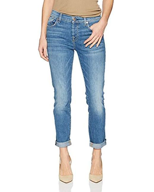 7 For All Mankind - Blue Josefina Feminine Boyfriend Jean - Lyst