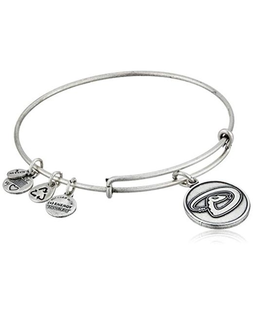 ALEX AND ANI - Metallic Arizona Diamondbacks Cap Logo Expandable Bangle Bracelet - Lyst