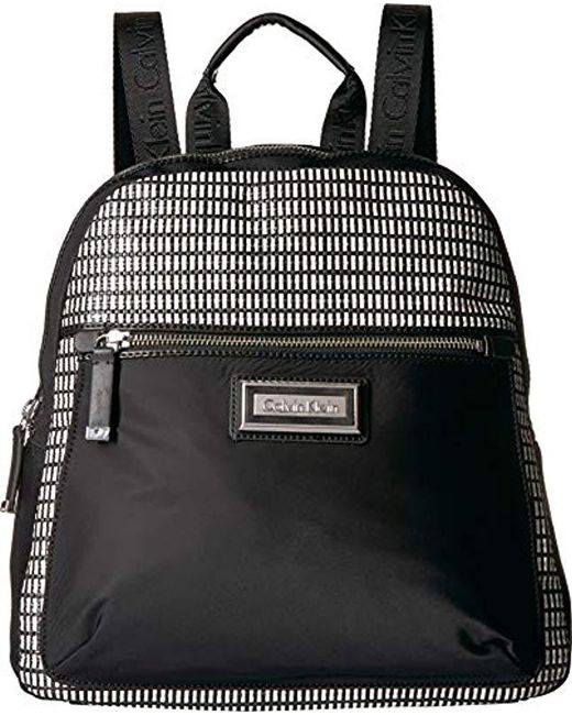 Calvin Klein - Black Belfast Key Item Raffia Backpack - Lyst