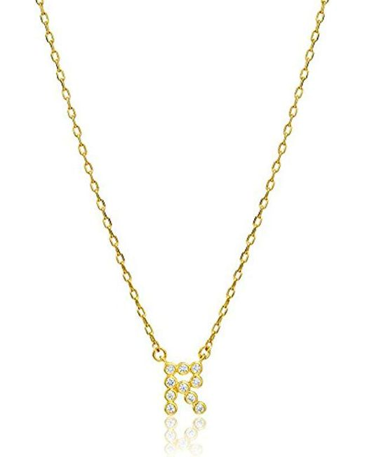 Kate Spade - Metallic One In A Million Stone R Pendant Necklace - Lyst
