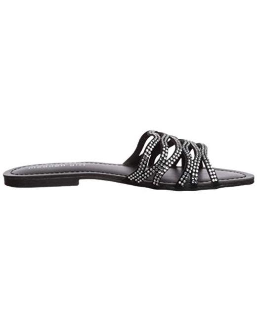 a1276c379120 ... Madden Girl - Black Sundaay Slide Sandal - Lyst ...