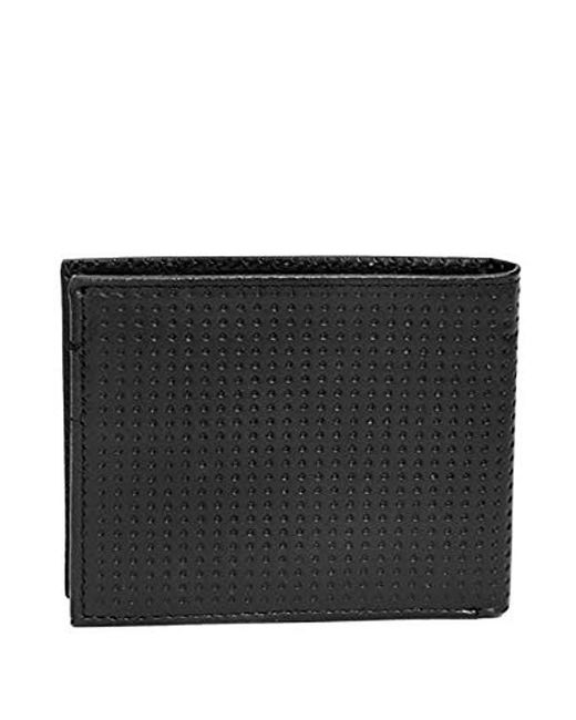 ... Guess - Black Leather Slim Bifold Wallet for Men - Lyst ... 5deb7a7257