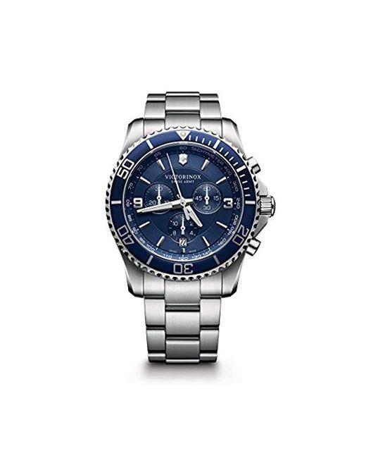 Victorinox - Blue 'maverick' Swiss Automatic Stainless Steel Casual Watch - Lyst