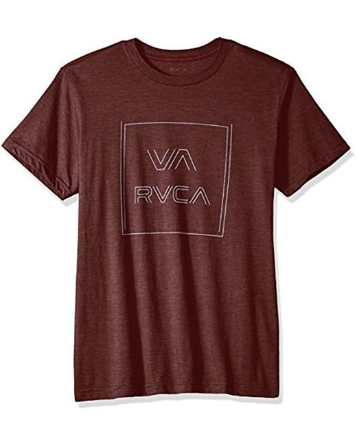 RVCA - Purple Pinner All The Way Short Sleeve T-shirt for Men - Lyst