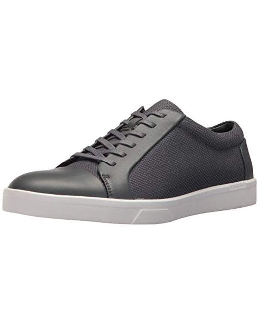 Calvin Klein - Gray Igor Napa Calf Sneaker for Men - Lyst