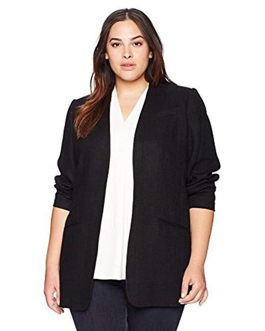 Calvin Klein - Black Size Plus Open Texture Jacket, - Lyst