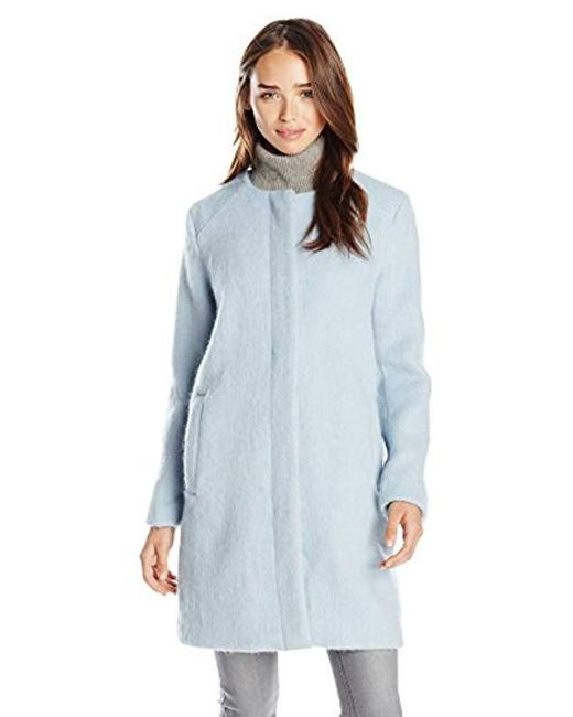 BB Dakota - Blue Vianne Brushed Wool-blend Coat - Lyst