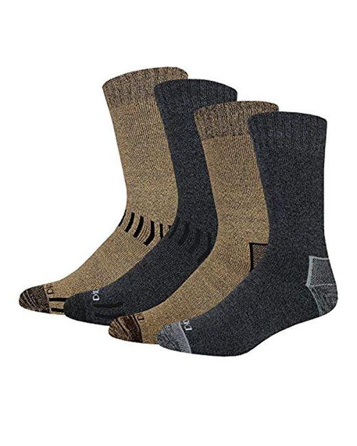Dickies - Black 4 Pack All Season Marled Moisture Control Crew Socks for Men - Lyst
