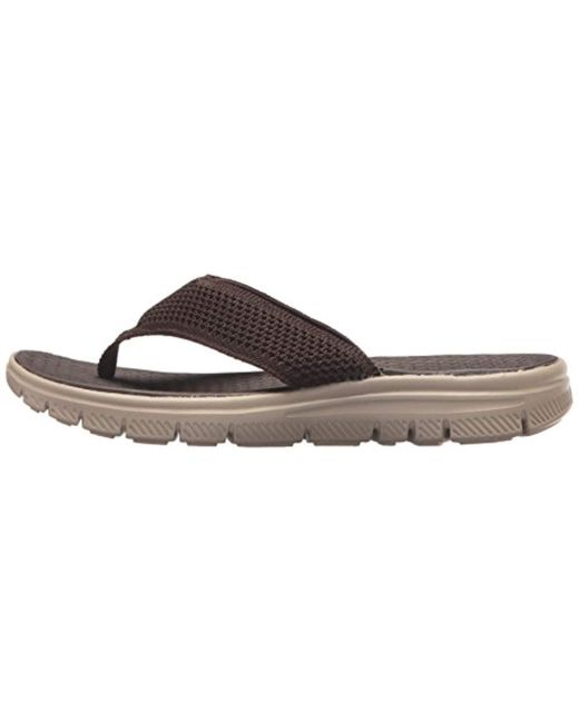 cbc7ad07e454 ... Skechers - Brown Sport Flex Advantage S Crommelin Flip-flop