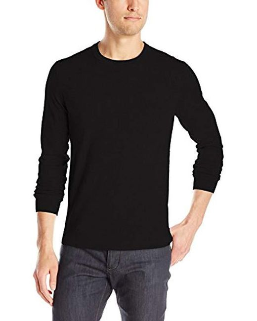 Theory - Black Riland New Sovereign Pullover Crew-neck Sweater for Men - Lyst