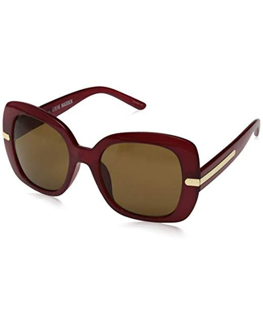 162a9a755a7 Lyst - Steve Madden Sm883150 Square Sunglasses Red 53 Mm in Red
