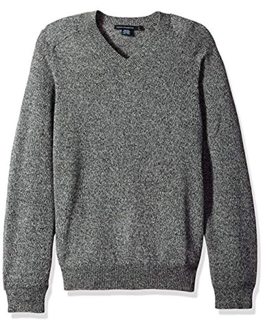 French Connection - Gray Lambswool Elbow Patch Sweater for Men - Lyst