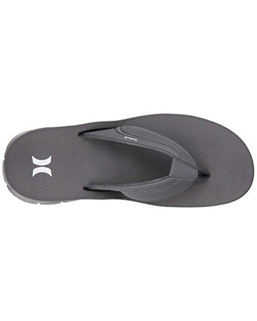 0673e9982 Hurley Flex 2.0 Flip-flop in Gray for Men - Save 43% - Lyst
