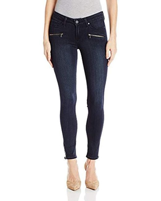 PAIGE - Blue Jane Zip Ultra Skinny Jeans-deacon No Whiskers - Lyst