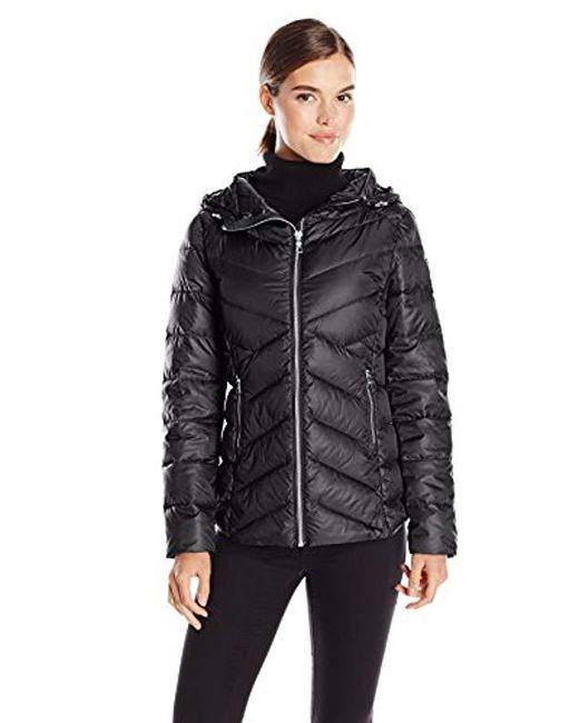 Sam Edelman - Clara Lightweight Packable Down Jacket, Black, Medium - Lyst