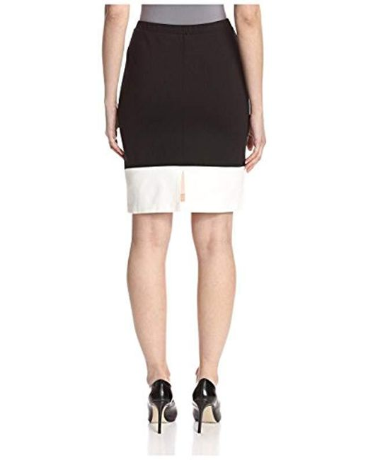 SOCIETY NEW YORK - White Seamed Hem Skirt - Lyst