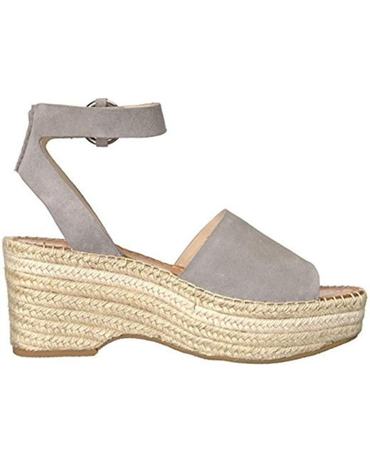 5b5883f3f1b Lyst - Dolce Vita Lesly Ankle Strap Espadrilles in Gray - Save 51%