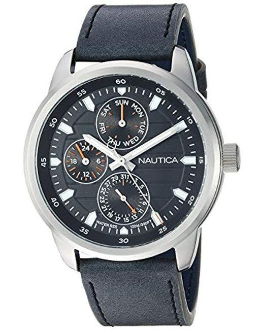 Nautica - Black Quartz Resin Silicone Watch for Men - Lyst