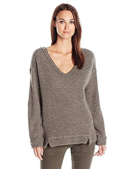 Three Dots - Gray Desiree Fuzzy Sweater Knit - Lyst