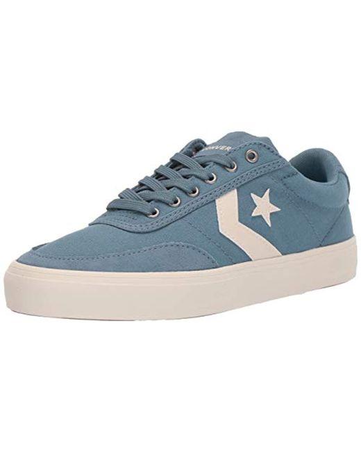 Converse - Blue Unisex Courtlandt Canvas Low Top Sneaker for Men - Lyst ... 72235d474