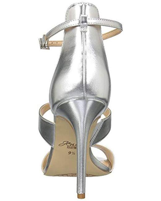 574bf81edbd ... Badgley Mischka - Metallic Mica Heeled Sandal - Lyst ...