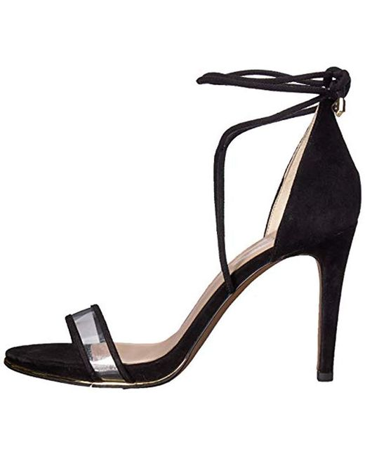 Women's Heeled Black Vinyl Stilleto Berry Sandal m0w8nvON